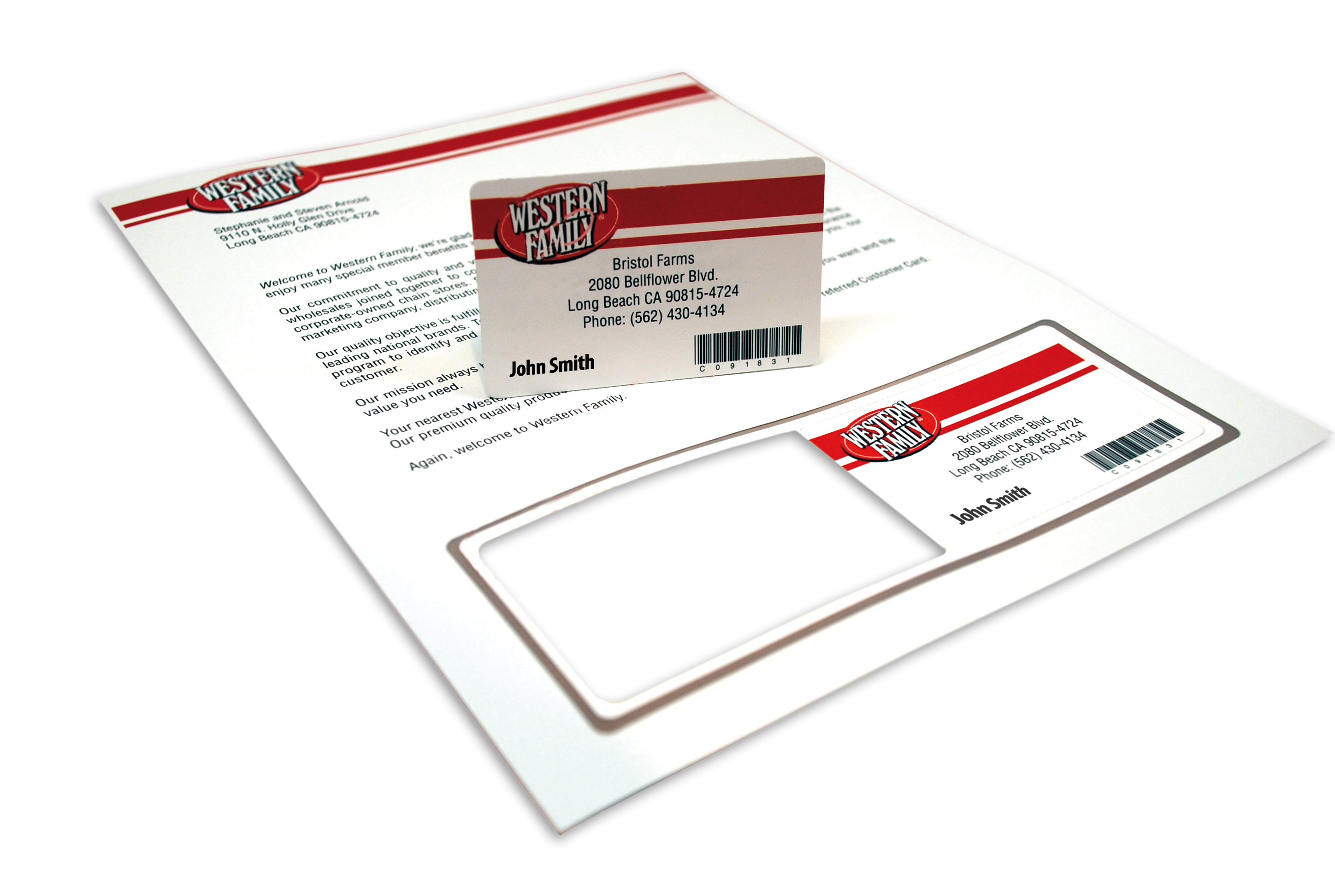 photo relating to Printable Membership Cards named Store Lead Send, Coupon codes Playing cards Labels Hampshire Label